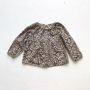 Old Navy leopard long sleeve top EUC 18-24 months